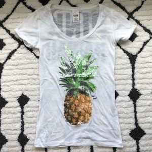 PINK Victoria's Secret Tops - Victoria's Secret PINK Hawaii Pineapple Tee